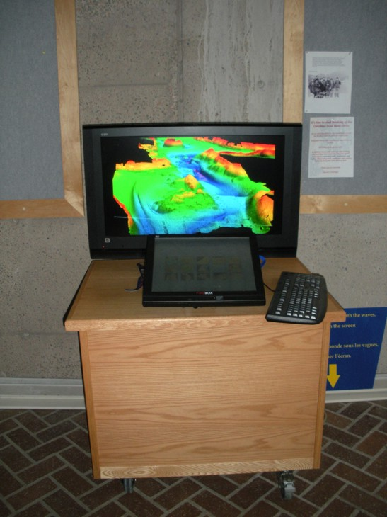 BIO - Public Kiosk Showing Multibeam Data
