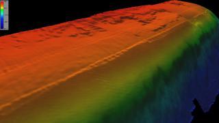 3-D View Along Bermuda Seamount