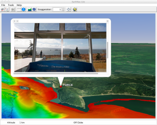 EarthNav Lite with High Resolution Multibeam and KML Popup