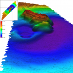 Beaufort Sea - Mud Volcano with Inset Map